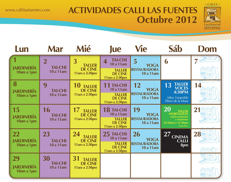 Calendario De Actividades Eventos: Eventos En Octubre